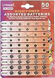 Loopacell High Power Super Alkaline Button Cell Assorted 1.5V Battery AG3/LR41 AG4/LR626 AG5/LR754 AG10/LR1130 AG13/LR44…