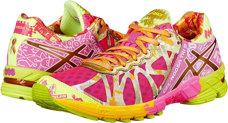 Asics Gel-Noosa Tri 9 Gr de la Mujer Running Shoe, Rosado (Hot Pink/Gold/Gold Ribbon), 5.5 B(M) US: Amazon.es: Zapatos y complementos