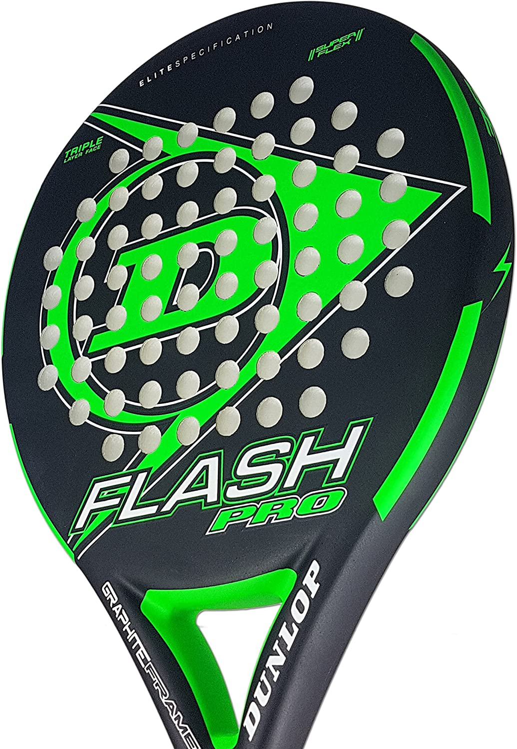 Dunlop FLASH PRO - Pala de pádel 38mm, 2018, nivel iniciación ...