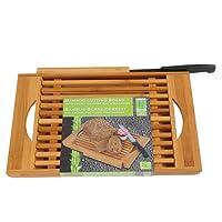 MY CE2601019 - Tagliere e coltello per pane, in bambù, 24 x 3 x 37 cm, colore: Beige