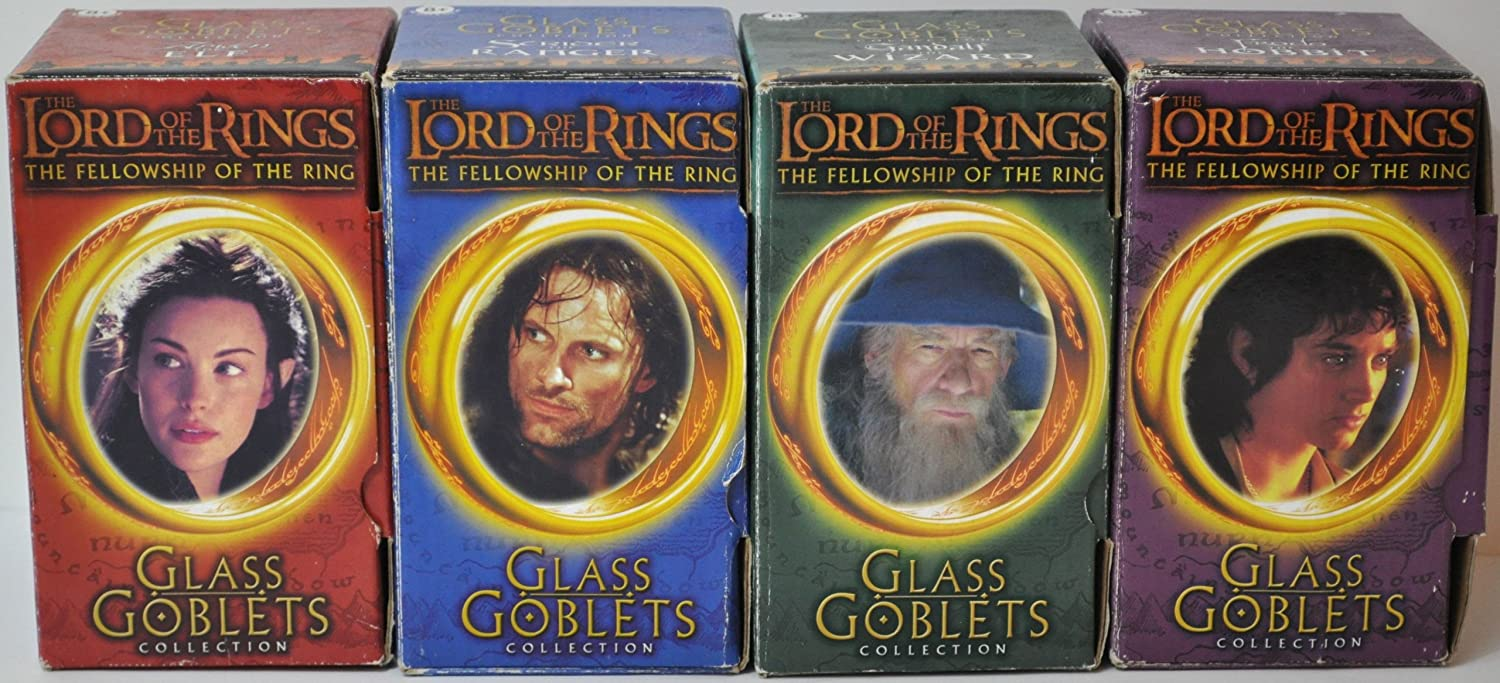 Lord of the Rings Complete Glass Goblet Collection (Burger King)