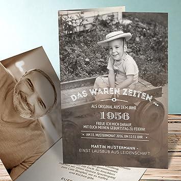 Einladungskarten 60 Geburtstag Frau Alte Zeiten 60 90 Karten