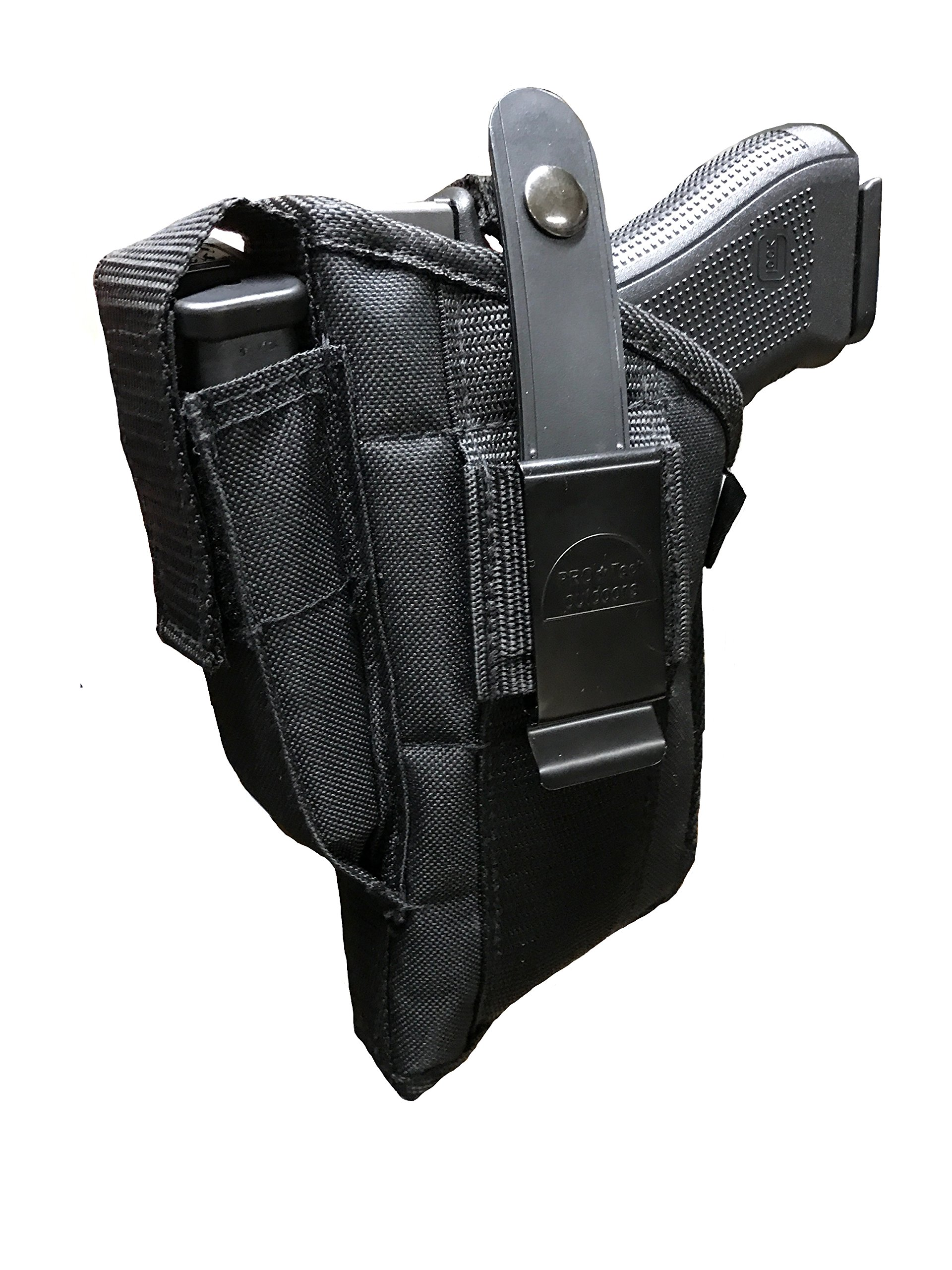 This Gun Holster Fits Large and Medium Frame Auto with Lazer Attached For Ruger, Smith and Wesson,Springfield Armory,Beretta,Glock,H&K,Sig Sauer, Taurus, Walther and more.
