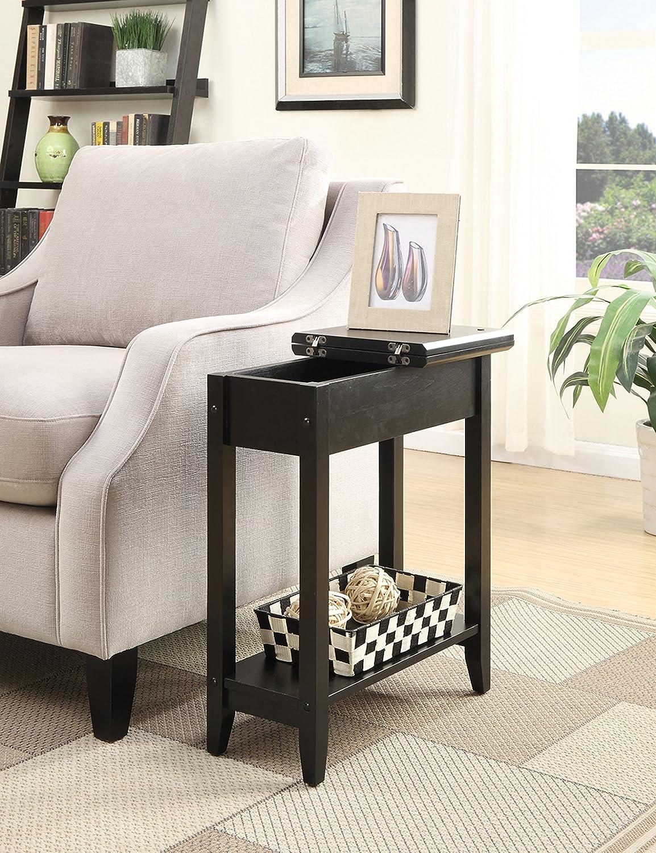 Convenience Concepts 7105059BL 600569 Flip Top End Table Black