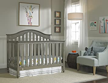 Fisher-Price Kingsport 5-in-1 Convertible Crib, Vintage Grey