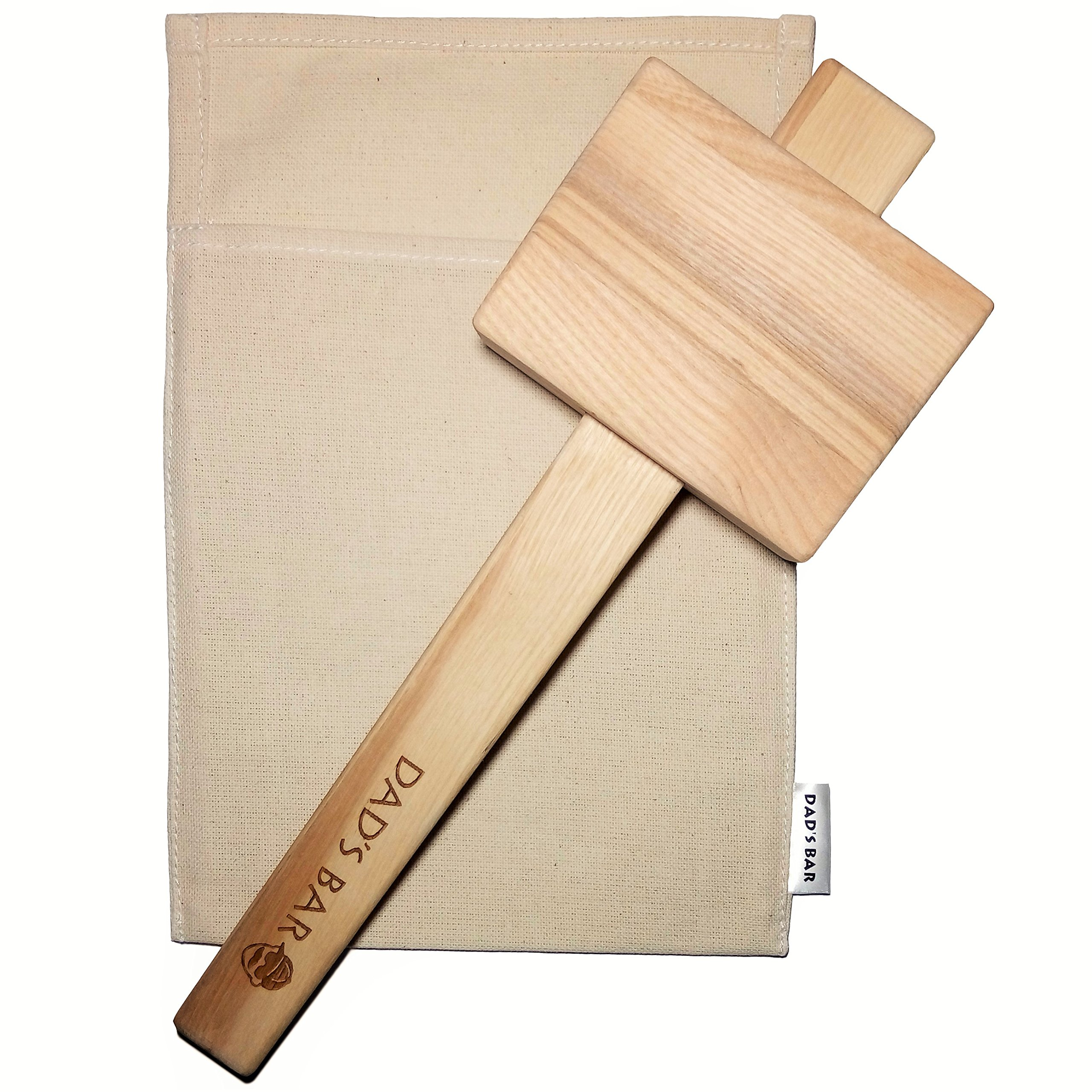 Lewis Ice Bag and Mallet effective and stylish manual Ice Crusher by Dad's Bar Large Mallet 14 Inches