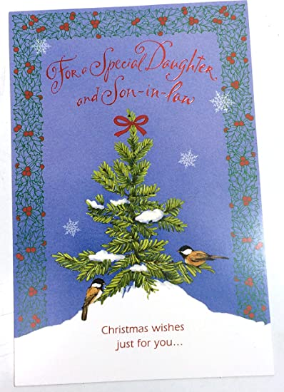 Amazon christmas card daughter husband for a special christmas card daughter husband for a special daughter and son in law m4hsunfo