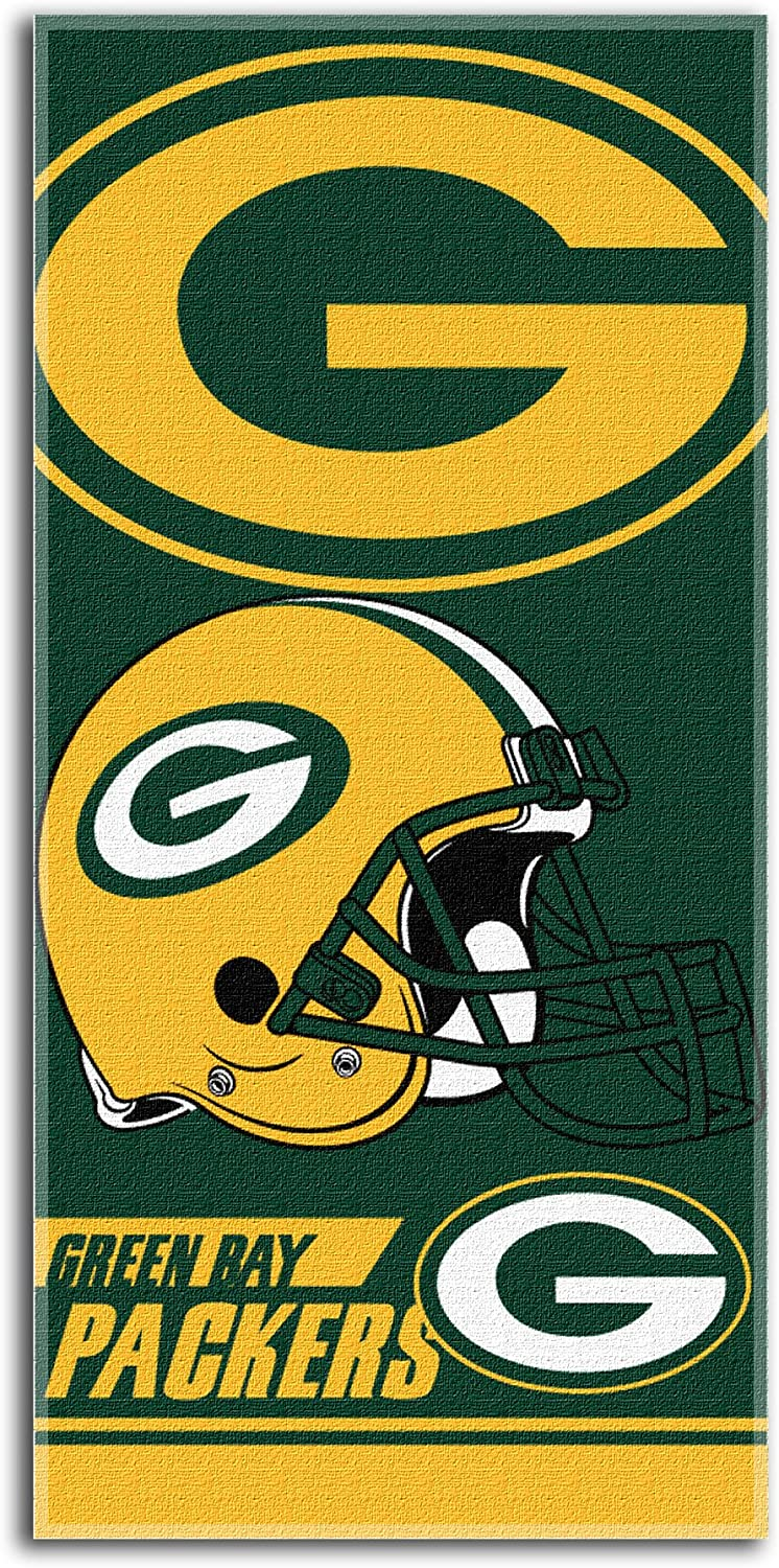 28 x 58-Inch NFL Green Bay Packers Double Covered Beach Towel