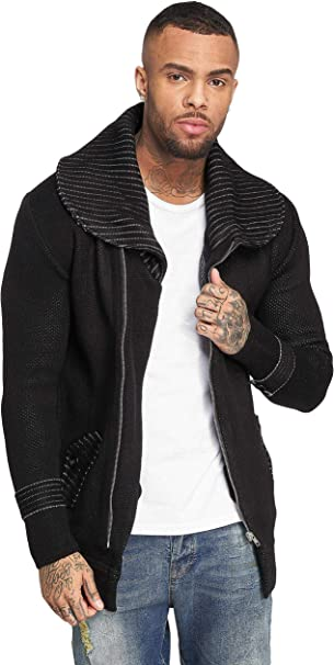 Redbridge Herren Pullover Strickjacke Cardigan Oversized Lange Jacke Stehkragen