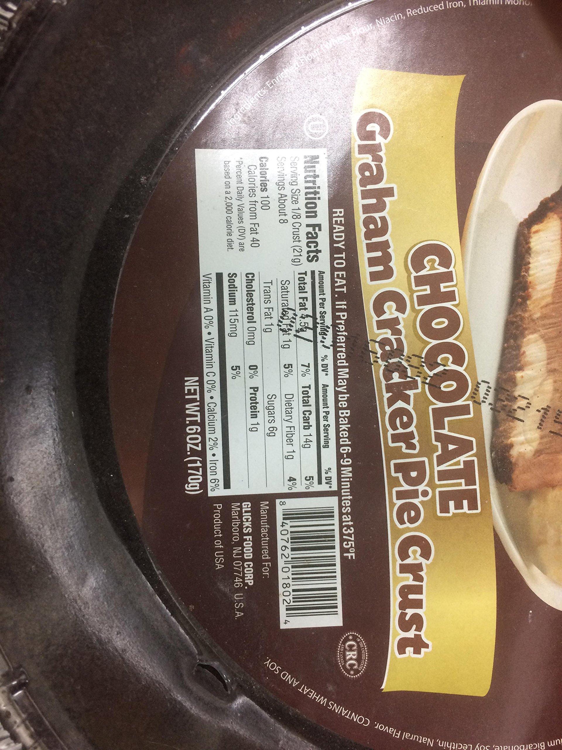Glicks Finest Chocolate Graham Cracker Pie Crust 6 Oz. Pack Of 3.