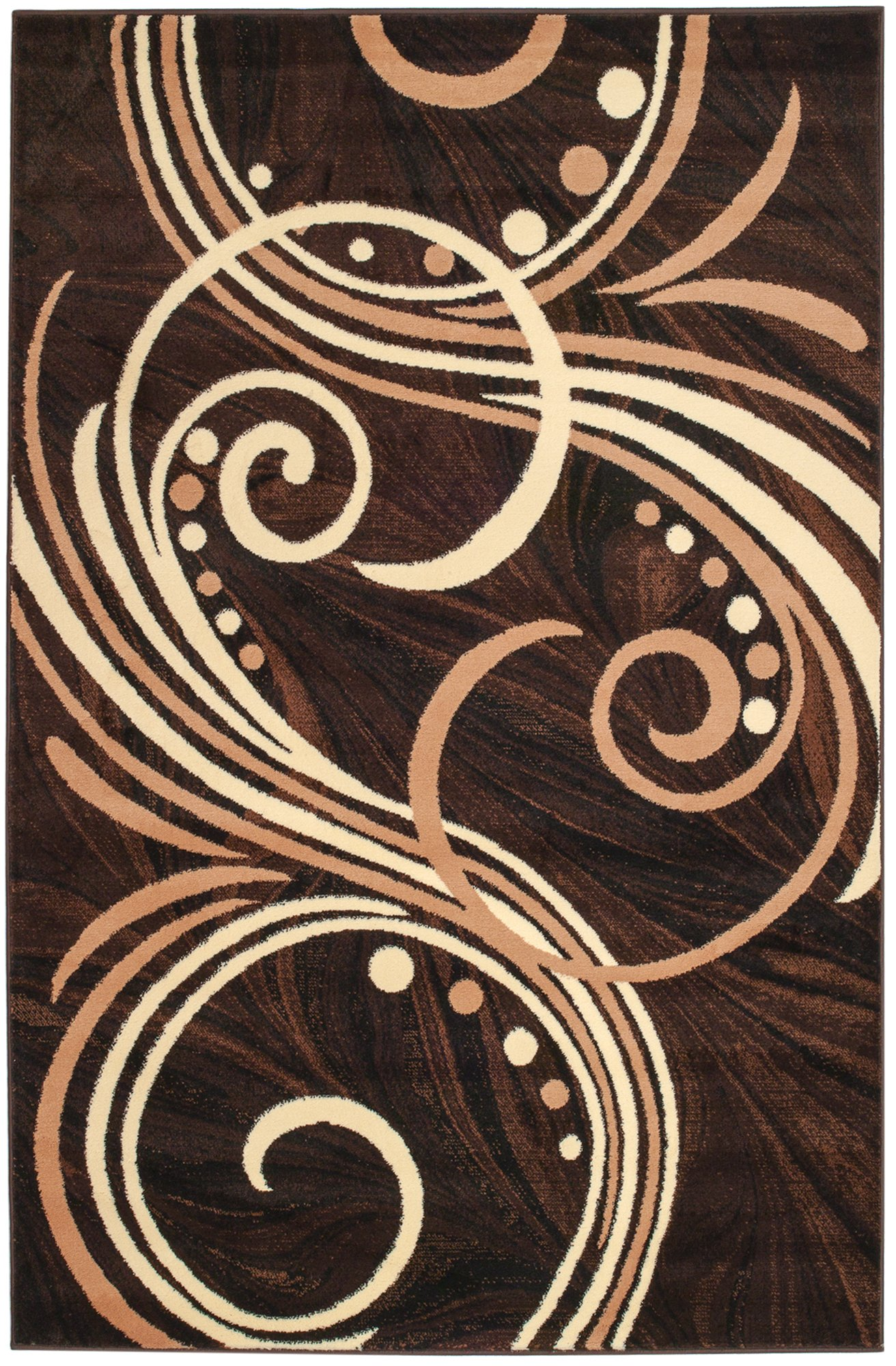 Summit 4D-PSJF-CZR4 24 New Area Choco Beige Brown Modern Abstract Rug Many Aprx (2x3 Actual is 22''x36'') ',
