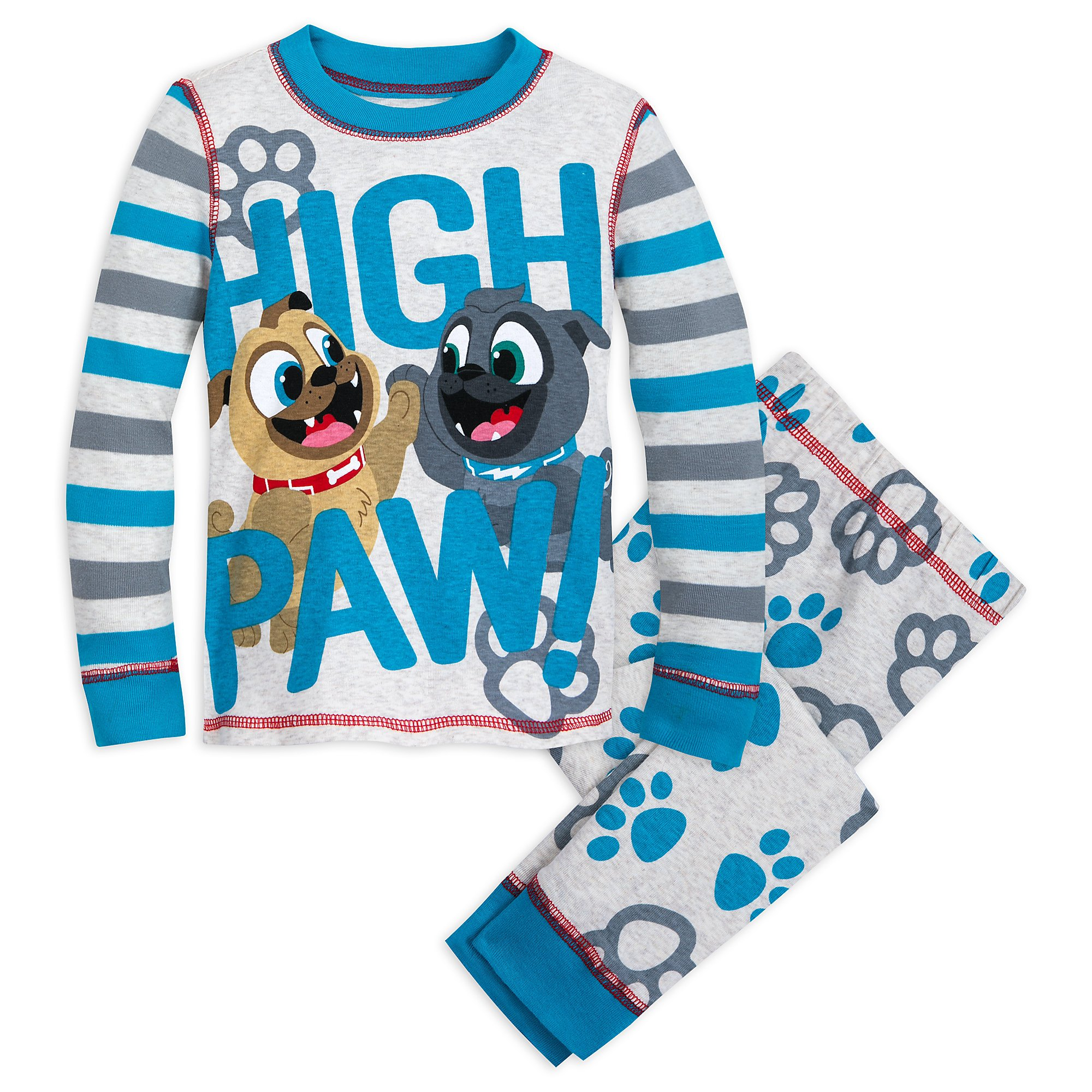 Disney Bingo and Rolly PJ PALS for Boys - Puppy Dog Pals Size 3 Multi