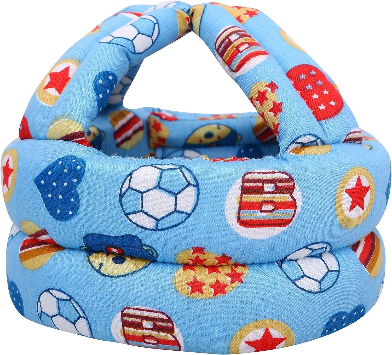Blue flowr Simplicity Baby Toddler No Bumps Safety Helmet Head Cushion Bumper Bonnet Infant Soft Helmet for Babies Learning to Walk