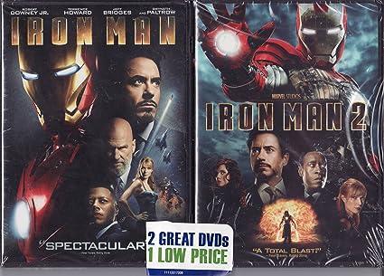 Iron Man / Iron Man 2 LIMITED EDITION 2 PACK DVD SET: Amazon.es ...