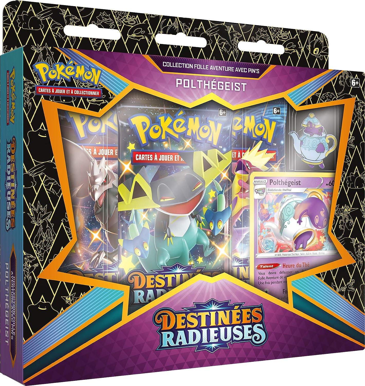 POKEBPIN03 zuf/älliges Modell Pokemon EB04.5 Pin Polthegeist oder Sapereau Sammelkartenspiel und Koffer