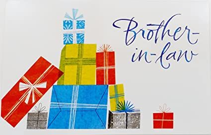 Amazon Brother In Law Happy Birthday Greeting Card Thinking