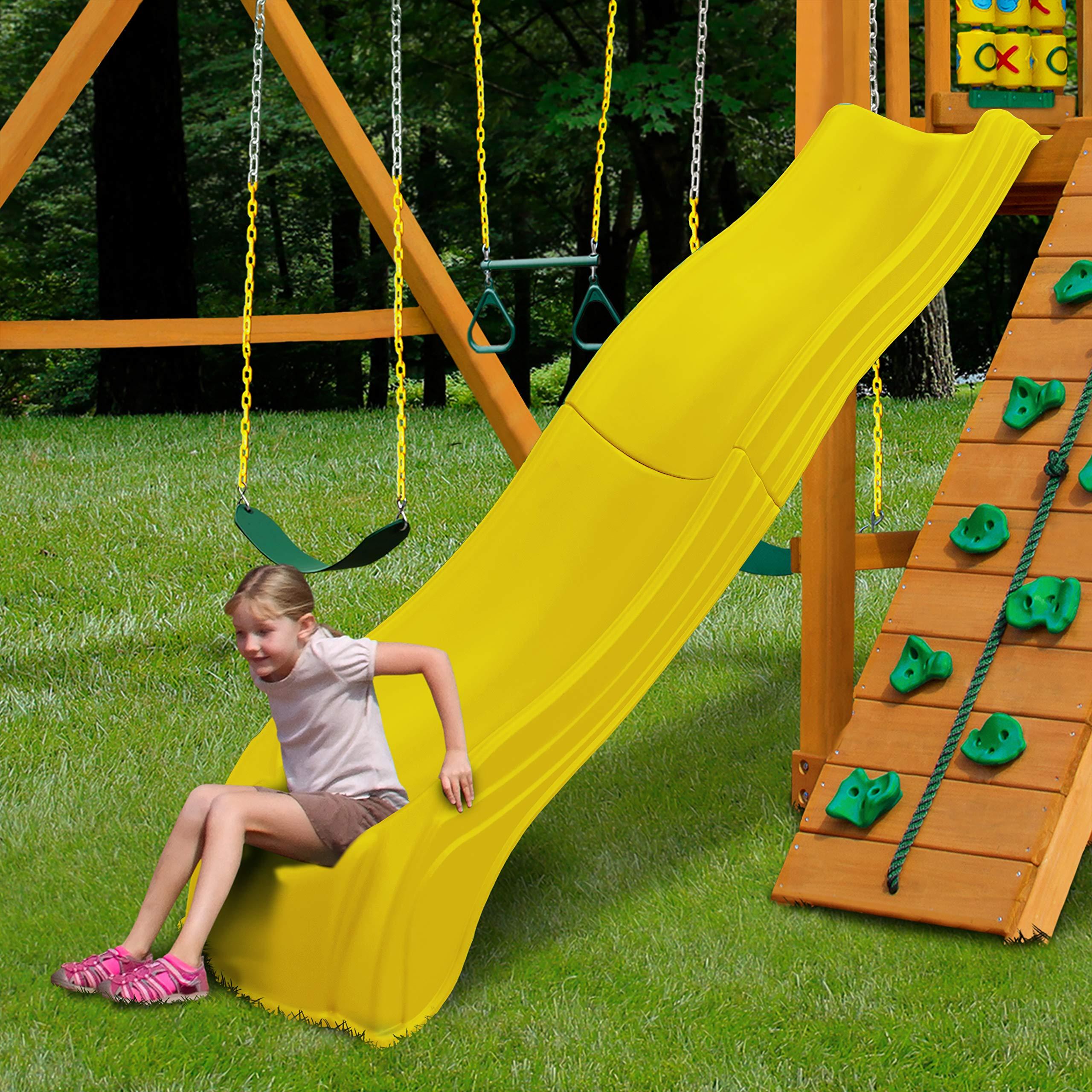 Swing-N-Slide WS 5031 Olympus Wave Slide 2 Piece Plastic Slide for 5' Decks, Yellow by Swing-N-Slide (Image #2)