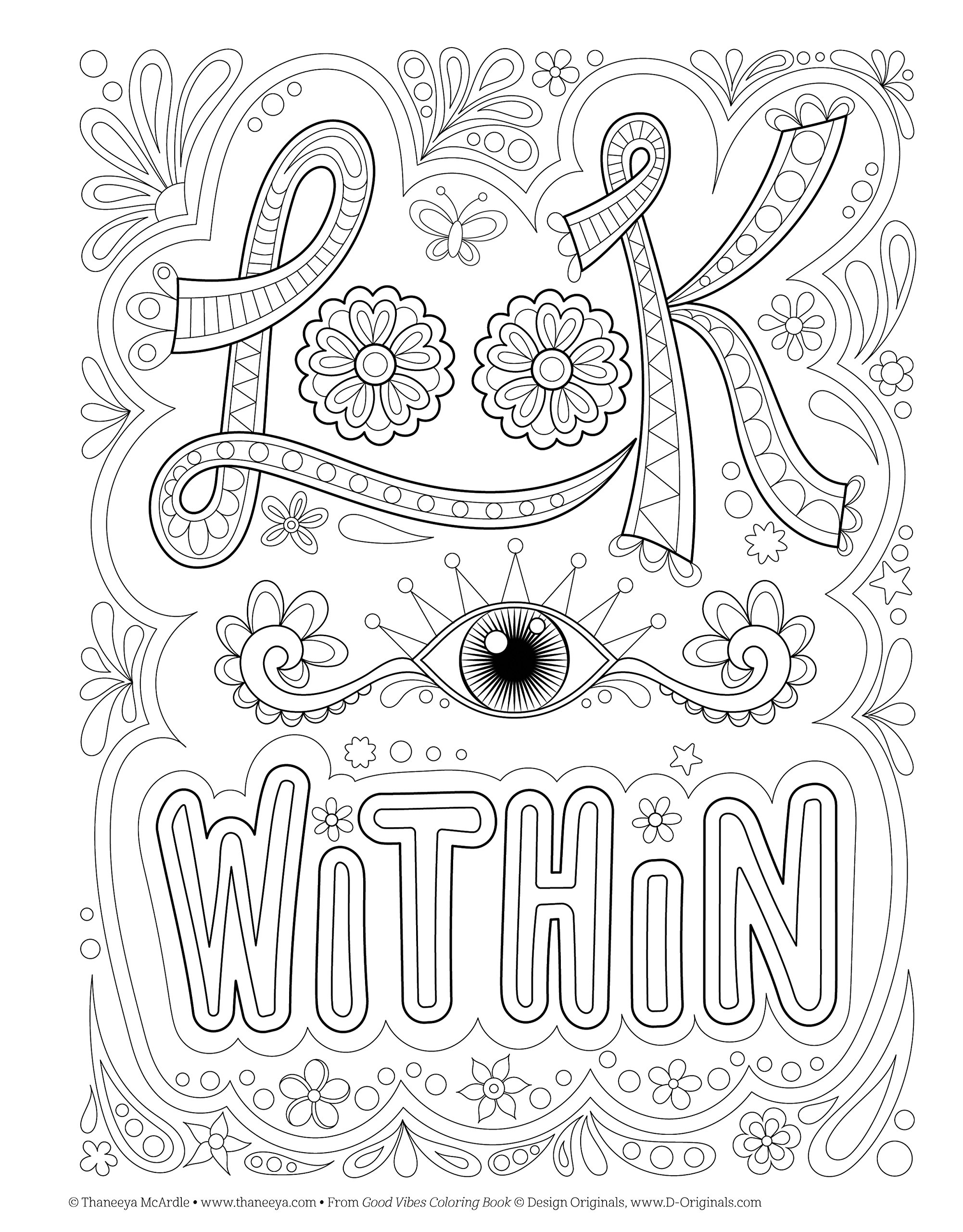 Good Vibes Coloring Book (Coloring is Fun) (Design Originals): 30 ...