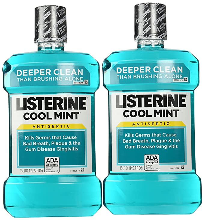 Listerine Mint (1.5l) Size 50.7z Listerine Cool Mint Antiseptic Mouthwash (Pack of 2)