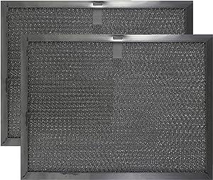 "American Metal Aluminum Range Hood Filter - 8-7/16"" X 11-1/4"" X 3/8"" Pull Tab, Center, Long Side"