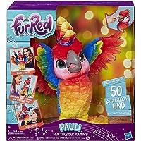 FurReal Pauli – mijn zingende plappagei, interactief pluche dier, sprekend papegaai, kinderspeelgoed, Duitse…
