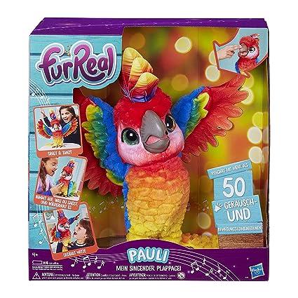 FurReal Pauli – mein singender Plappagei, interaktives Plüschtier, sprechender Papagei, Kinder-Spielzeug, deutsche Sprachausg