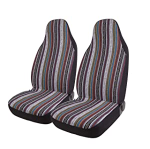 West Coast Auto Baja Blanket Bucket Seat Cover for Car, Truck, Van, SUV - Airbag Compatible (2PCS) (National)