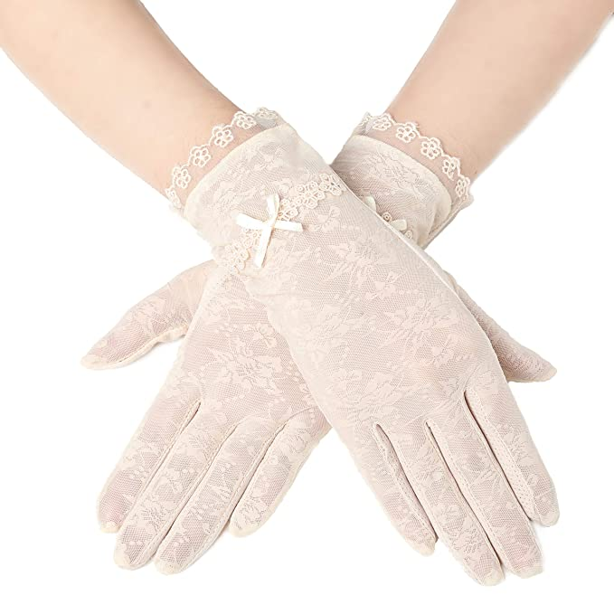 Vintage Style Gloves- Long, Wrist, Evening, Day, Leather, Lace BABEYOND Floral Lace Gloves for Wedding Opera Party 1920s Flapper Lace Gloves Stretchy Adult Size $9.99 AT vintagedancer.com