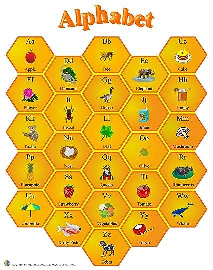 amazon com large laminated alphabet educational poster for