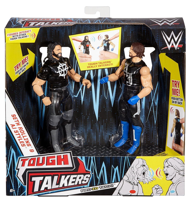 WWE Tough Talkers Seth Rollins & AJ Styles Figure, 2 Pack Mattel DXG96