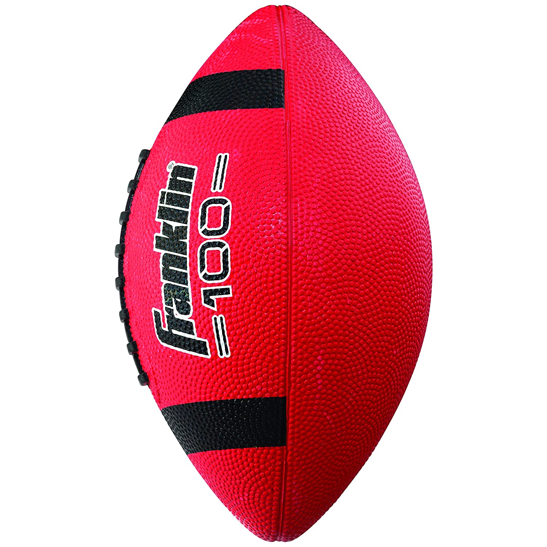 Red Franklin Sports Grip-Rite 100 Rubber Junior Football