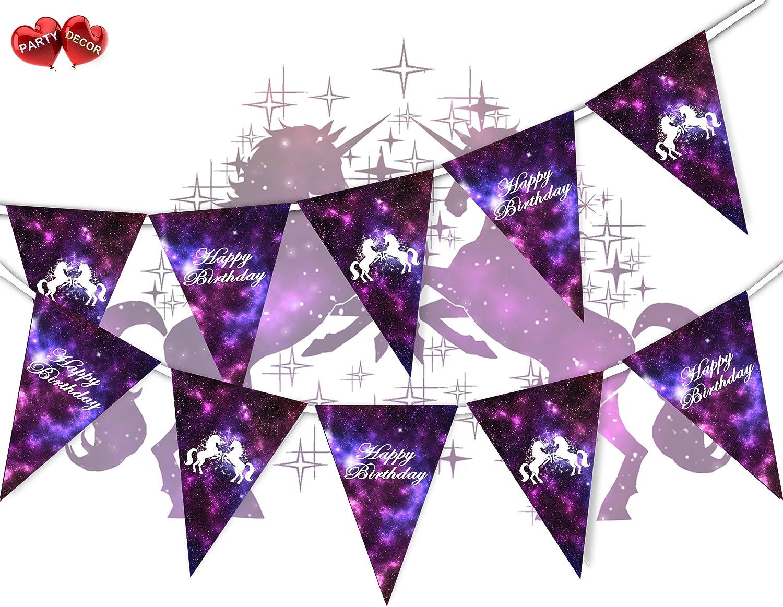 Party Decor Banderines de Unicornio con Espacio para ...