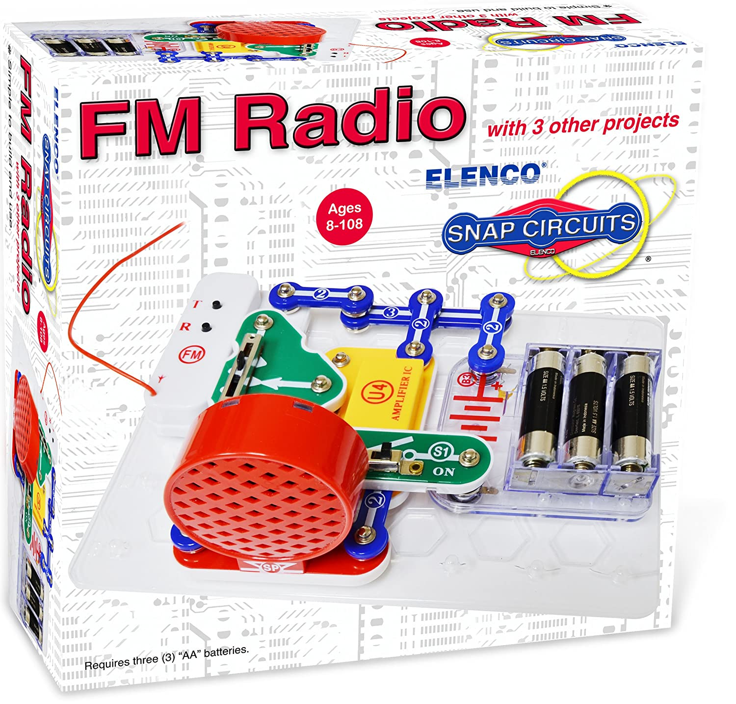 Elenco Electronics Radio Mini Kit Toys Games Amazoncom Snap Circuits Motion Discovery