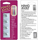 HANG AWAY (with-flex-grip opening!) Universal Toothbrush Holder (WHITE) 3M tape backing. Also available in (Glow-In-The-Dark #B003YIEE) & (Black #B00COYGX88).
