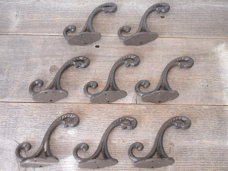 """10 x CAST IRON ACORN COAT /& HAT HOOKS ANTIQUE IRON 6/"""" Antique  Reproduction Hook"""