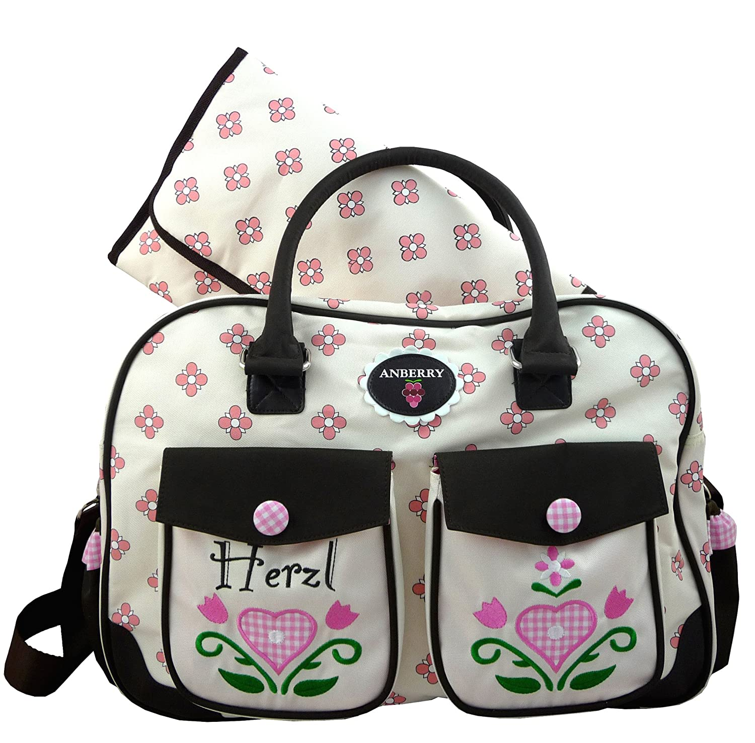 ANBERRY Wickeltasche Herzl on Tour - Diaperbag Light Pink - Rosa