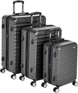 cb6785c75 AmazonBasics Premium Hardside Spinner Luggage with Built-In TSA Lock -  3-Piece Set