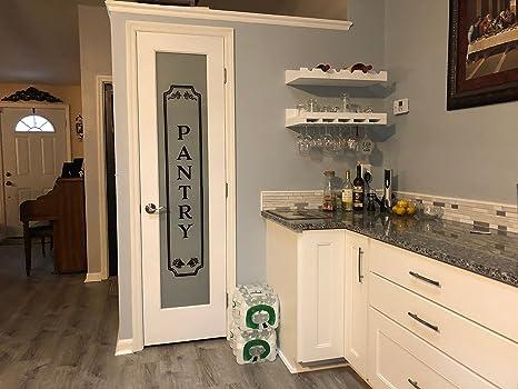 Amazoncom Decals Pantry Vinyl Kitchen Glass Door Vinyl Lettering