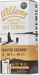 product image for Wildway Keto Hot Cereal | Toasted Coconut | Certified Gluten Free Instant Breakfast Cereal, Low Carb Snack | Grain-Free, Keto, Paleo, Non-GMO, No Artificial Sweetener | 2 pack