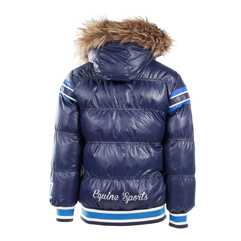 Horze Kids /& Ponies Padded Jacket with Reomvable Hood 12 Medium Dark Navy