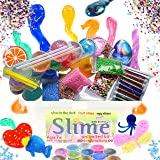 Safe Elements Slime KIT for Girls & Boys, Educational Insights [50+ PC Non-Toxic Premade Multicoloured Slime-, Glitter, Fishbowl Beads, Galaxy, Fruit Slices, Fluffy Clear, &More], Non-Sticky Gift Toy