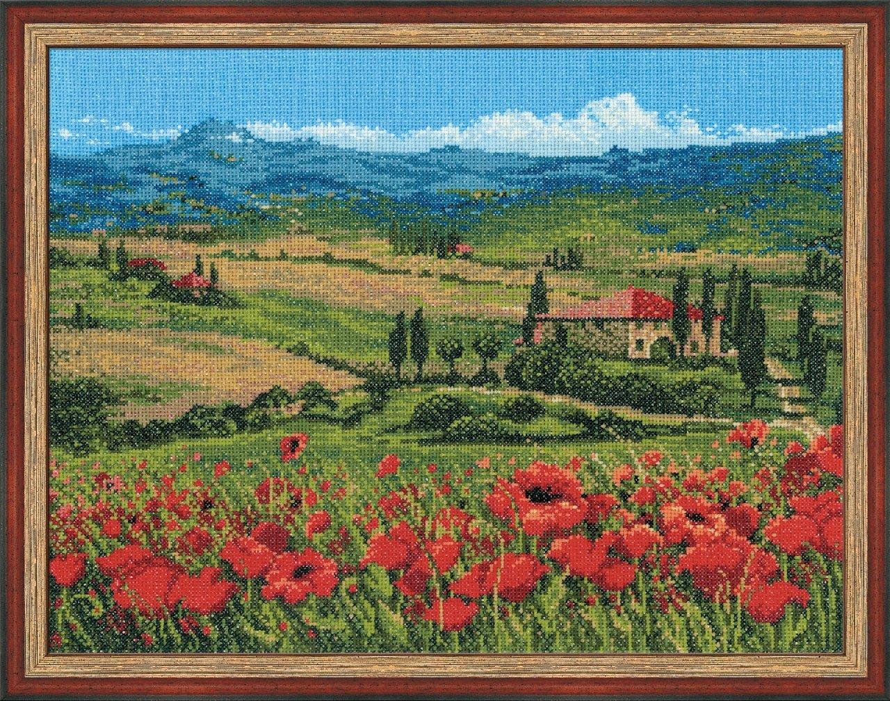 RIOLIS Kit de point de croix Motif Toscane
