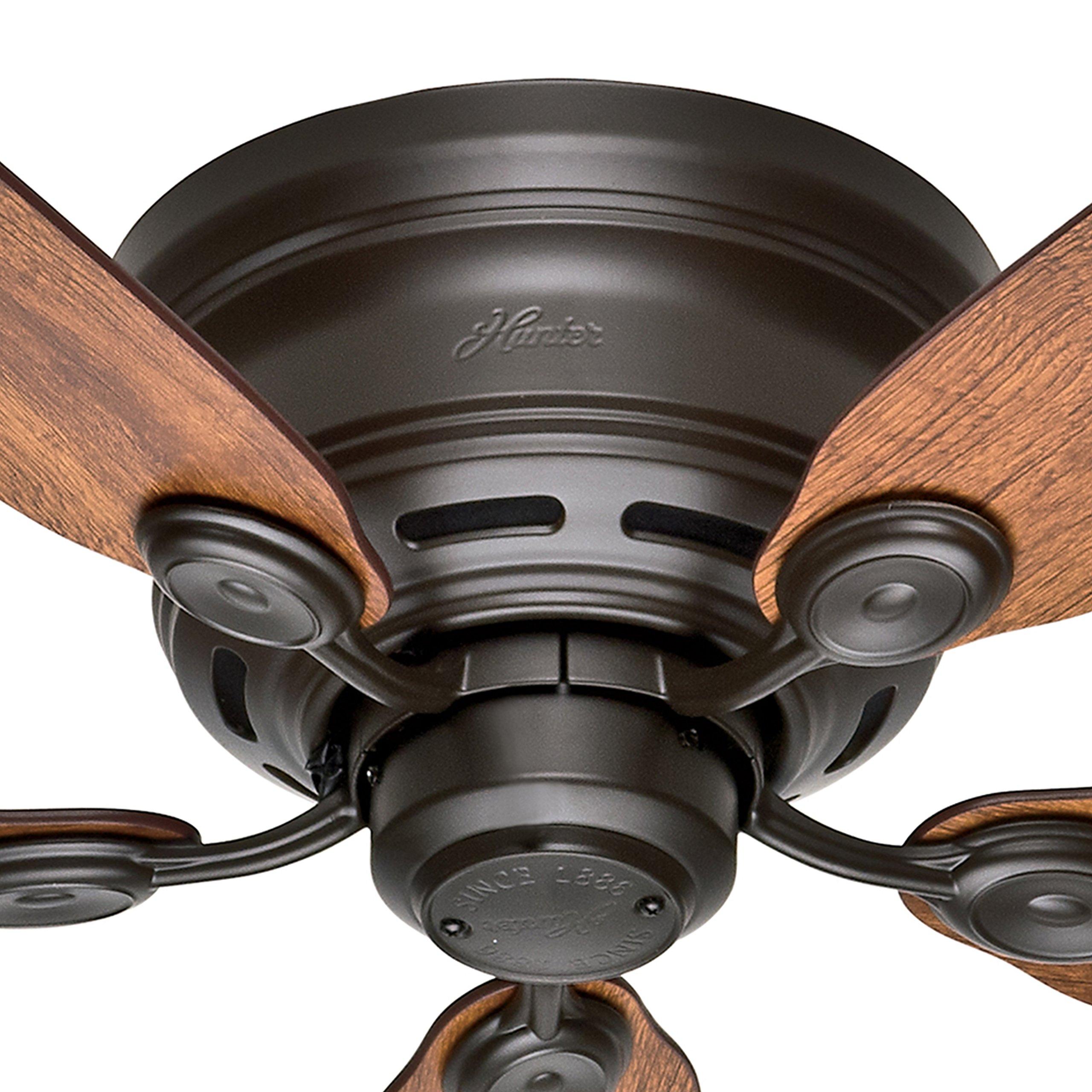 Hunter Fan 42'' New Bronze Finish Low Profile Ceiling Fan with Reversible Weathered Oak / Wine Country Blades (Certified Refurbished) by Hunter Fan Company (Image #2)
