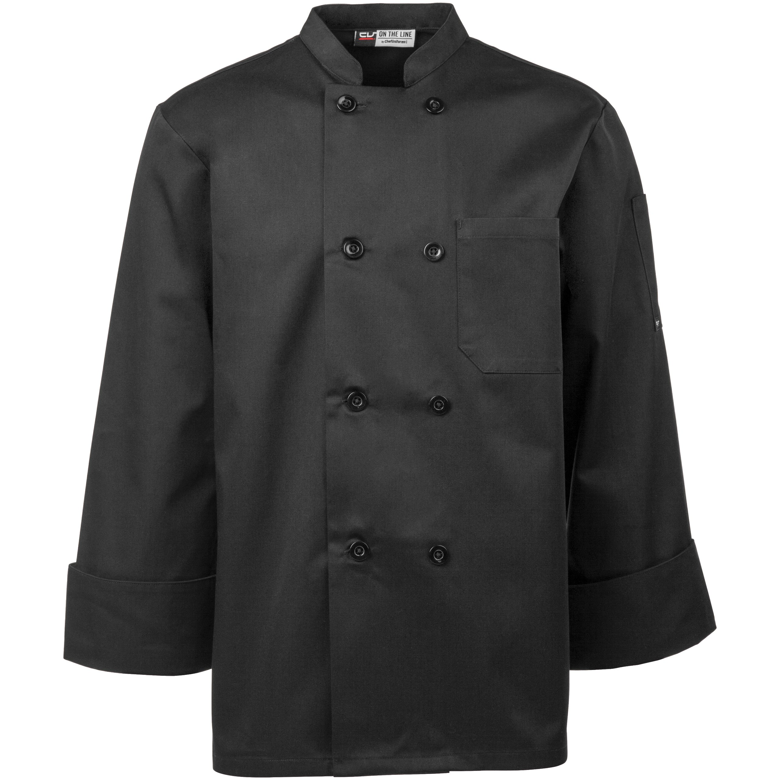 On The Line Men's Long Sleeve Chef Coat (S-2X, 2 Colors) by On The Line (Image #2)