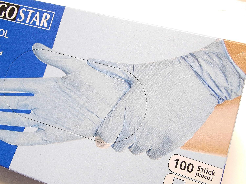 Franz uomo nitrile mano scarpe blu monouso in lattice CONTROL 1,000 pezzi.