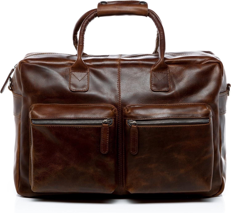 SID & VAIN® Maletín portátil Brighton Bolso Notebook 15
