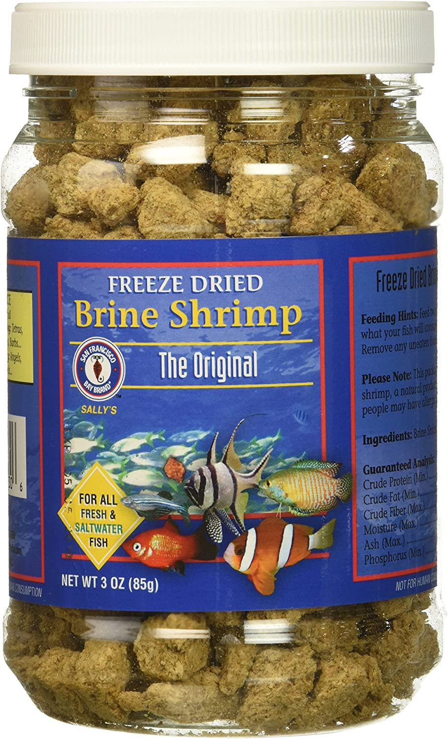 San Francisco Bay Brand ASF71130 Freeze Dried Brine Shrimp for Fresh and Saltwater Fish, 85gm