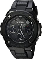 Casio Men's G Shock Stainless Steel Quartz Watch with Resin Strap, Black, 27 (Model: GST-S100G-1BCR)