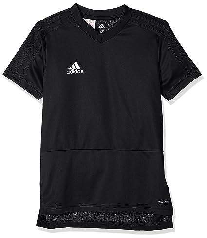 Adidas CON18 TR JSY Y T-Shirt, Unisex niños, Black/White,