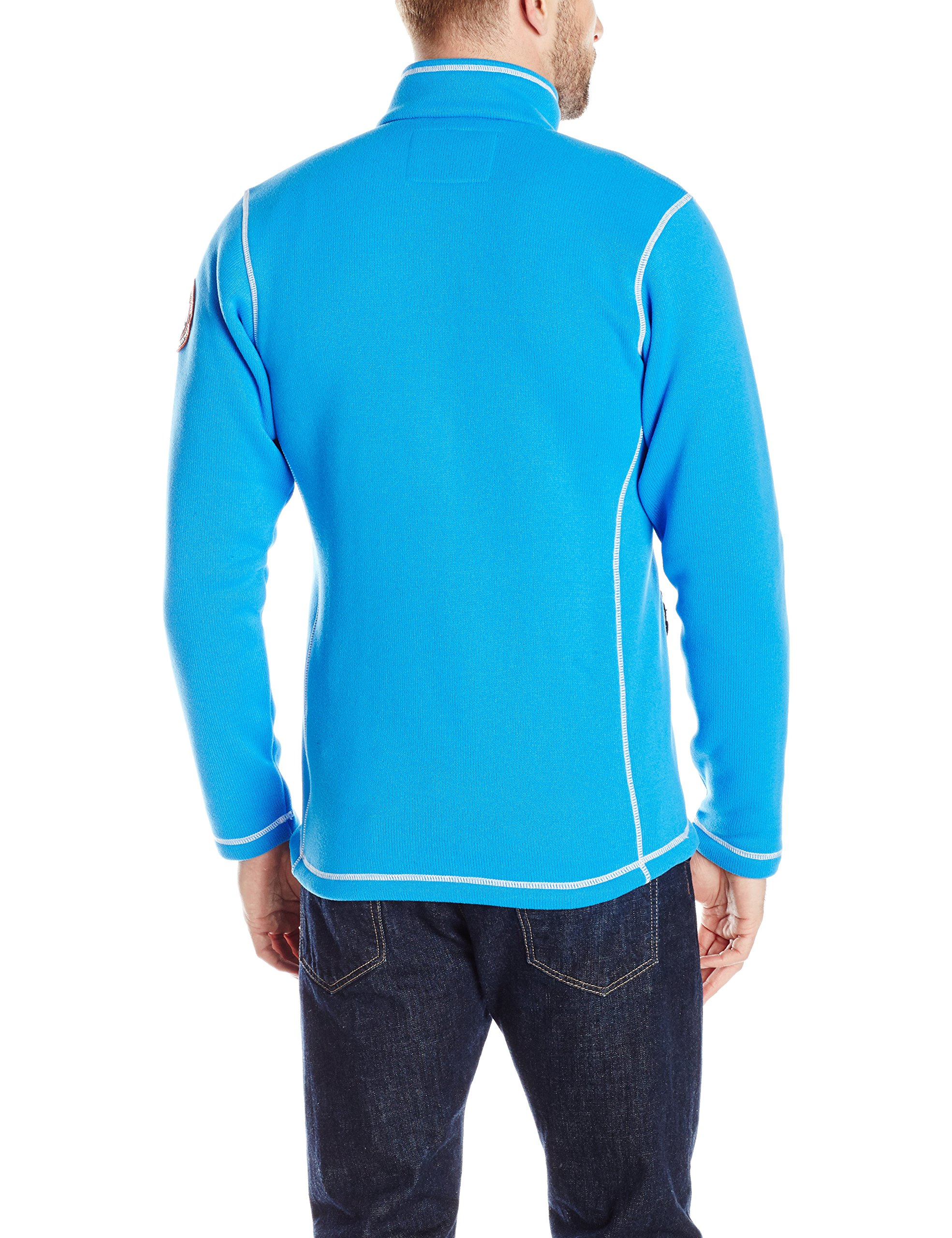 Helly Hansen Work Wear Men's Big and Tall Hay River Polartec Fleece Jacket, Racer Blue, 3X-Large by Helly Hansen (Image #2)